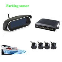 Wholesale Wireless Reverse Parking Sensors - car dvr Parktronic parking sensor System with 4 sensor 6 Color fashion buzzer alarm styling wireless LCD display Reverse Radar Rear view