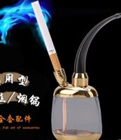 Wholesale I Shisha - Hookcrystal clear glass filter water pipe shisha Hookah loop i dfd