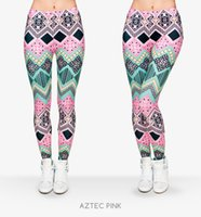 pantalones estampados para mujer al por mayor-New Fashion Aztec Printing Legins Punk Legging Pantalones Elásticos de Las Mujeres Casual Slim fit Pantalones Leggings