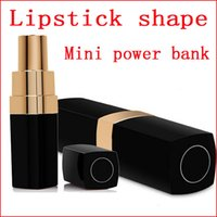 Wholesale Iphone External Charger Mini Lipstick - 3000mAh sexy lipstick shape design style Mini power bank portable external backup battery for samsung iphone Power Charger