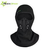 Wholesale Fleece Winter Scarf - Rockbros Winter Face Mask Cap Thermal Fleece Ski Mask Face Snowboard Shield Hat Cold Headwear Cycling Face Mask Fiter Scarf