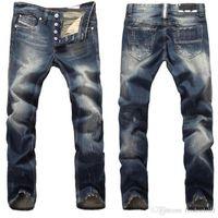Wholesale Moustache S - New Arrive Foreign trade Explosion Style Men's Jeans Moustache Straight Slim Men Long Straight Jeans 9003