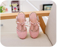 Wholesale Toddler Sequined Shoes - Summer Girls Shoes Sandals Korean Rhinestone Princess Gauze Sandale Toddler Girl Sandalias Hollow Footwear 6 pair l