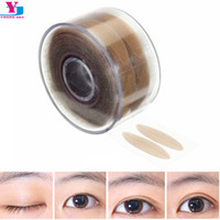 Wholesale Instant Eye Shadow Stickers - Wholesale-New Hot 600pcs Stealth Double-Fold Eyelid Shadow Sticker Instant Eye Lift Double Eyelid With Beautiful Eye Allergy Eyelid Tools