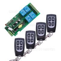 télécommande 4ch rf achat en gros de-85v ~ 250V 110V 220V 230V 4CH RF sans fil à distance relais de sécurité système de commutation de portes de garage, portes électriques de portail roulant