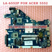 Wholesale Acer Laptops Good - LA-6552P Laptop Motherboard FOR ACER Aspire 5315 5552, Gateway NV50A PEW96 L01 MBR4602001 461942BOL01 AMD GM 100% TSTED GOOD,Check photos.