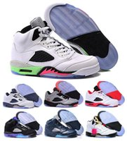 Wholesale Cheapest Low Cut Basketball Shoes - Cheap Retro 5 Basketball Sneakers Men Women Retro Shoes 5s V Authentic Sports Homme Zapatos Real Replicas Size US5.5-13