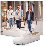 Wholesale Shoes Ultralight - EU 39-44 Fashion Summer Men Canvas Shoes Breathable Casual Shoes Men Shoes Loafers Comfortable Ultralight Lazy Shoes Flats