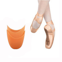 Wholesale Pointe Toe Pads - Free shipping Ballet dancer Silicone toe pad Ballet Dance Pointe Toe Shoes Pads One Size Insoles