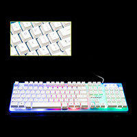 Wholesale Fr Pc - Computer LOL DOTA backlight LED keyboards for laptop PC Phelps FV - Q3A colorful glowing crystal game suspension home office keyboard DHL fr