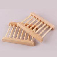 деревянные ящики для мыла оптовых-Натуральное дерево мыльница деревянный мыльница держатель для хранения мыльница плита Box контейнер для ванной душ плита ванная комната