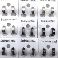 Wholesale Nickel Free Cross - Mix Lot Nickel Free Stainless Steel Men's Ear Clips, Cool Men's Jewelry 24 Pairs Wholesale Free Shipping