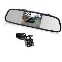 "Wholesale Car Video Camera Parking System - HD Video Auto Parking Monitor LED Night Vision Reversing Car Rear View Camera with 4.3"" Rearview Mirror Monitor Display Backup System"