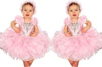 Wholesale Custom Cupcake Decorations - Cute Flower Girls Dress Spaghetti With Bows Decoration Infant Toddler Cupcake Gowns Pageant Dresses For Little Girl Formal Occasion