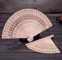 Wholesale Wholesale Promotional Umbrellas - Wooden Fans 40*23CM Chinese Sandalwood Fans Wedding Fans Ladies Hand Fans Advertising and Promotional Folding Fans Bridal Accessories