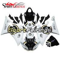 Carénages complets pour Yamaha YZF600 R6 08 - 15 ans 2008 2009 2010 2011 2015 Lucky Strike 21 White Sportbike ABS Motorcycle Fairing Kit