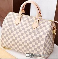 Wholesale Lace Cell Phone - Fashion Women Bag Shoulder Bags Brand L Designer Lous V Speedy Mono Alma Leather Handbags gram Vutton Ladies Tote 3f4 Zipper Bags