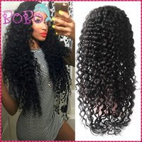 Wholesale Silk Tops For Ladies - Silk Top 7A Lace Front Human Hair Wig For Black Women 130% Unprocessed Brazilian Hair Silk Base Glueless Full Lace Wig Deep Wave