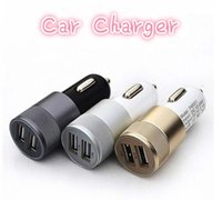Wholesale Dc12v Adaptor - New Universal Use Adapter 2.1A 1.0A Mini Dual 2 Port 12V USB Auto In Car Charger Adaptor Charging
