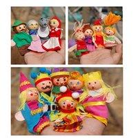 Wholesale King Gloves - 14pcs puppet Little red riding hood mermains king family gloves puppet for story telling kids children learning educational toys