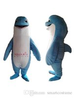 Wholesale Pictures Mouth - SX0728 100% real picture a blue dolphin mascot costume with a big mouth for adult to wear