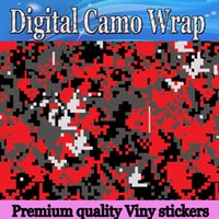 Wholesale green truck cars for sale - Orange Piexl Vinyl Car Wrap Film With Air Rlease Digital Camouflage Truck wraps covers Tiger camo vinyls wrapping size x30m Roll