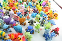 Wholesale Toy Bag Pvc - 24pcs bag Poke Figures Toys 2-3cm Pikachu Charizard Eevee Bulbasaur Suicune PVC Mini Model Toys For Children