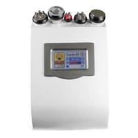 Wholesale 5in1 ultrasonic liposuction machine - 5in1 Dissolved Slimming Ultrasonic Liposuction Cellulite Reduction 40K Cavitation Multipolar RF Vacuum Slimming Machine Face Skin Lifting
