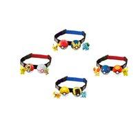 Wholesale Telescopic Ball - 2016 NEW Poke belt ball Pikachu sets toys New children cartoon Cosplay poke go ball Telescopic belt set Charmander Jeni turtle toys