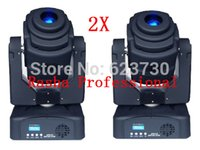 Wholesale-2X LOT 14 canali DMX 60W LED Moving Head luce spot Roatrating prisma fase / Bar Stage Light Spot lampada di illuminazione