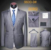 erkek italyanca uyma takımları toptan satış-Marka İtalyan% 100% Yün Erkekler Klasik Handmad Suits Avrupa Tasarımcı Resmi Takım Elbise Slim Fit Yüksek Kalite Mens Günlük İş Elbise