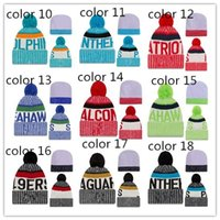 Wholesale Hat Running - Wholesale fashion winter Beanies Hat American Football Beanies Sports baseball Beanies Knitted Hats man women basketball Snapbacks Hats