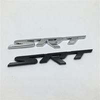 pegatinas de la cinta del espejo al por mayor-Nuevo Brank 1 Unids Metal 3D SRT Emblema Chrome Insignia Lateral Logo Pegatinas de Coche Calcomanía Para Dodge Ram Challenger Cargador