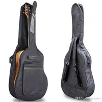 """Wholesale Double Acoustic - 40"""" 41"""" Acoustic Guitar Double Straps Padded Guitar Soft Case Gig Bag Backpack H210398"""