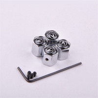 Car-styling 4PCS Set Car Anti-Theft Wheels Tires Valves Tyre Stem Air Caps Stainless Car Wheels Tires Valve Caps case for Acura
