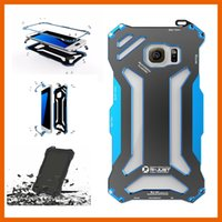 Wholesale Gundam Iphone Case - R-JUST Transformer Carbon Fiber Metal Aluminum Frame Gundam Case Cover for iPhone 5 5s 6 6s 7 Plus S7 Edge