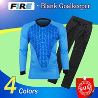 Wholesale Men S Trousers For Suit - New football soccer doorkeeper goalkeeper jerseys sets long sleeve tops & long short pants trousers hot sales for adults kids training suits