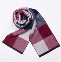 Wholesale Brand Men S Rings - Winter warm brand cashmere scarf man pentagram printing scarves men show charm desiger fashion scarf shawls gift fashion brand design wool s