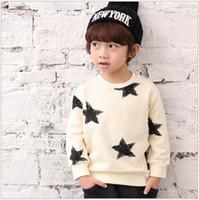 koreanischer junge mode pullover großhandel-2016 neue Herbst Jungen Sterne Gedruckt Pullover Mode Kinder Langarm-sweatshirts Kinder Baumwolle Pullover Koreanischen Stil Jungen T-shirts Shirts