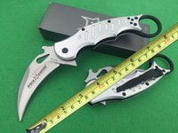 Wholesale New Fox Pocket Knife - New FOX Claw Karambit Knife Nickel Plated Antirust G10 And Aluminum Handle Pocket Folding Camping Knife Gift Knife F392E