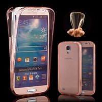 Wholesale Silicon Case Galaxy S3 - NEW Clear TPU Case for SAMSUNG Galaxy S3 S4 S5 S6 S6Edge S7 S7 Edge Ultra Thin Soft Gel Silicon 360 Full Body Protect Phone Cover