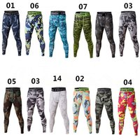 Wholesale Wholesale Camo Trousers - Men's Fitness Joggings Trouser Runs Camo Footballs Soccer Pants Lenggings Tights Active Trainings Gyms Chothing S-3XL