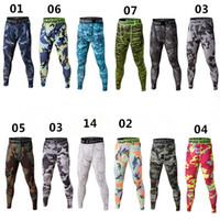 Wholesale Soccer Pants Wholesale - Men's Fitness Joggings Trouser Runs Camo Footballs Soccer Pants Lenggings Tights Active Trainings Gyms Chothing S-3XL