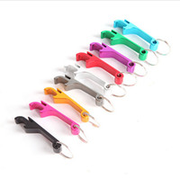 Wholesale Beverage Can Opener - Hot Sale Random Color Pocket Key Chain Beer Bottle Opener Claw Bar Small Beverage Keychain Ring can do logo