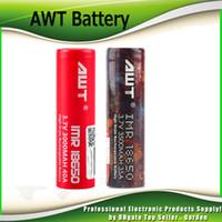 Wholesale Top Vape Mods - 100% Top Hight Quality Clone AWT 18650 Battery 3000mAh 40A 3500mAh 35A 3.7V Rechargeable Battery Vape box mods