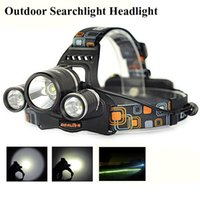 Wholesale head flashlight dive - 2016 Linterna frontal LED Headlamp 5000 Lumens Head lamp T6 3 LED Headlight head torch edc flashlight 18650O TH272
