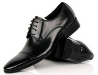 ingrosso abiti da ufficio moderni-moda moderna design formale scarpe eleganti da uomo in vera pelle nera appartamenti per ufficio dimensioni: 38-44