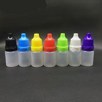 Wholesale Eye Bottle 15ml - Electronic cigarette oil bottle 5Ml  10Ml  15Ml Dropper Plastic Bottle Tip Eye Liquid Squeezable Empty Ldpe Mix Color M 02688Free shipping