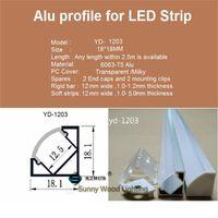 Wholesale Light For Corner - Free shipping 10set lot led 1m aluminium profile for led bar light, led strip corner aluminum channel, waterproof aluminum housing YD-1203