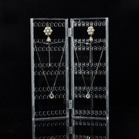 Wholesale Door Crafts - Creative Earring Organizer Folding Door Shape Jewelry Display Stand Space Saving for Earrings Necklaces Trading Show Stall Crafts Holder